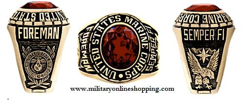 custom marine corp ring