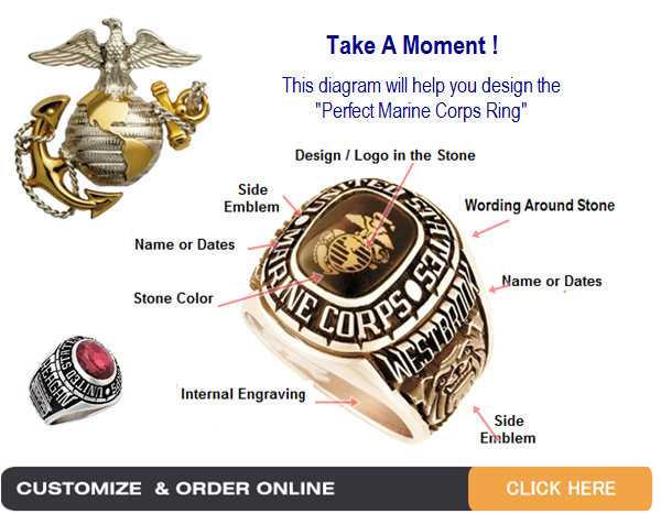 gold marine corps rings